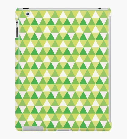 Green Triangle Abstract Pattern iPad Case/Skin