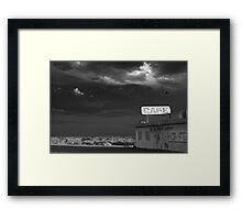Not Anymore Framed Print