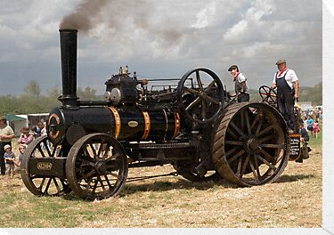 Fowler Ploughing Engine by Paul Woloschuk