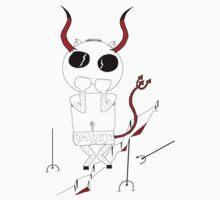Little scared Devil Baby Tee