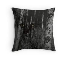 Eyes In The Woods Throw Pillow