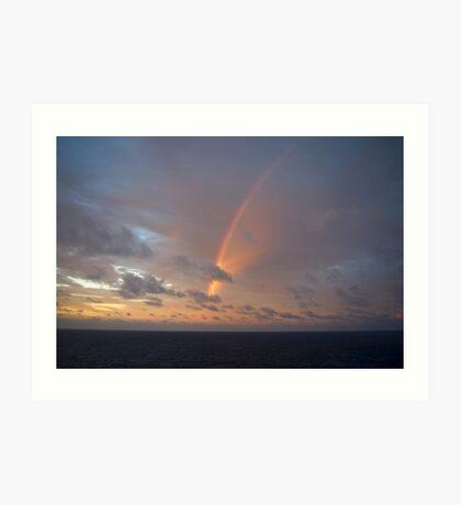 Atlantic Sunset Rainbow Art Print
