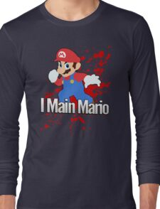 I Main Mario - Super Smash Bros. Long Sleeve T-Shirt