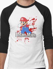 I Main Mario - Super Smash Bros. Men's Baseball ¾ T-Shirt