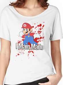 I Main Mario - Super Smash Bros. Women's Relaxed Fit T-Shirt