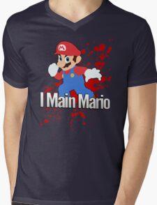 I Main Mario - Super Smash Bros. Mens V-Neck T-Shirt