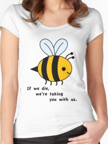 Sacrificial Bees Women's Fitted Scoop T-Shirt