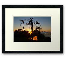 Skipping sunset Framed Print
