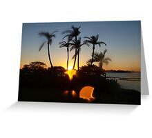 Skipping sunset Greeting Card