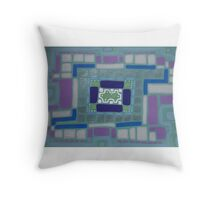 City Buildings as Archaeology Sketches Throw Pillow
