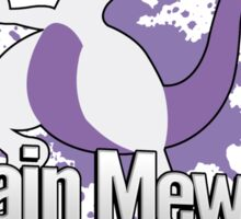 I Main Mewtwo - Super Smash Bros. Sticker