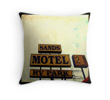 Sands Motel Throw Pillow