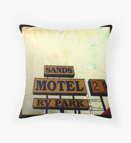 Sands Motel Throw Pillow