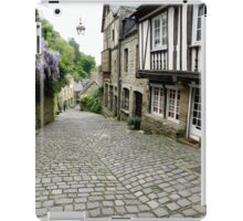 Rue de Jerzual, Dinan. Bretagne. iPad Case/Skin