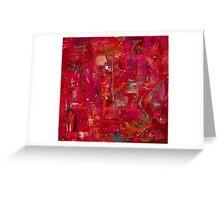Busy Crimson Greeting Card