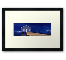 Crawley Edge Boatshed Panorama  Framed Print