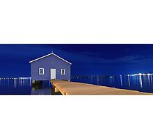 Crawley Edge Boatshed Panorama  Photographic Print
