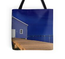 Crawley Edge Boatshed Panorama  Tote Bag