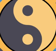 Yin and Yang and bagua Sticker