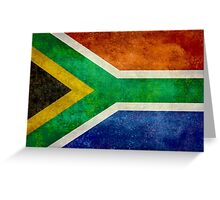 National flag of the Republic of South Africa Greeting Card