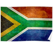 National flag of the Republic of South Africa Poster