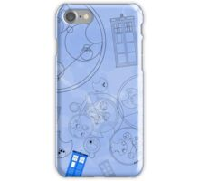 Police Box with Geometric Shapes iPhone Case/Skin