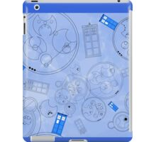 Police Box with Geometric Shapes iPad Case/Skin
