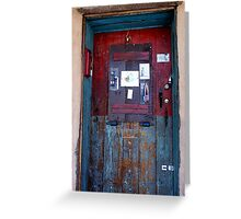 Message Board-Door in Santa Fe Greeting Card