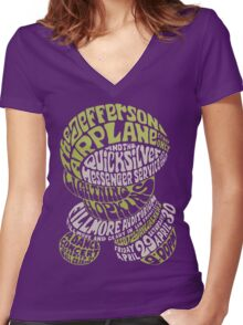 Fillmore: JEFFERSON AIRPLANE Women's Fitted V-Neck T-Shirt
