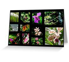 A~natural Botanics Collage  Greeting Card