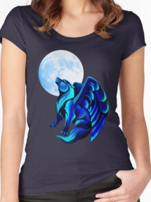 Fantasy Wolf Women's Fitted Scoop T-Shirt