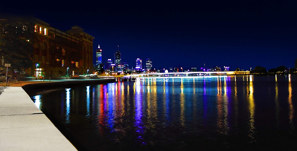 Old Swan Brewery Perth At Night  by EOS20