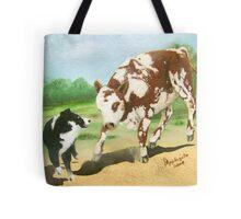 Australian Shepherd Cowdog~ Oil Painting Tote Bag