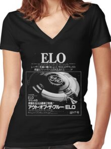 E.L.O. Japan Women's Fitted V-Neck T-Shirt