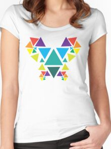 Equilateral Butterfly Women's Fitted Scoop T-Shirt
