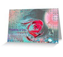 Aqua rose card design Greeting Card