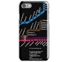CTA MAP BLACK iPhone Case/Skin