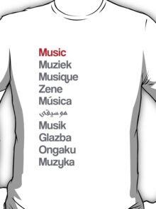 Music (10 languages) T-Shirt