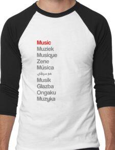 Music (10 languages) Men's Baseball ¾ T-Shirt