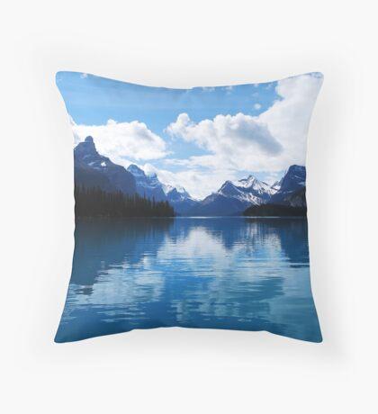 Lake Maligne Throw Pillow