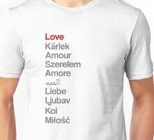 Love (in 10 languages) Unisex T-Shirt