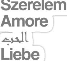 Love (in 10 languages) Sticker