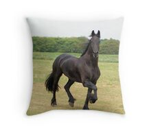 We all love frisian horses Throw Pillow