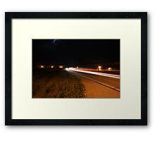 The Blurred Aftershow Framed Print