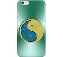 Pisces & Rabbit Yin Metal iPhone Case/Skin
