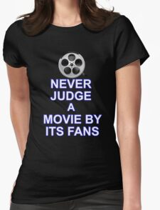 Never Judge A Film Womens Fitted T-Shirt