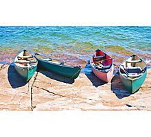 Four Canoes Photographic Print