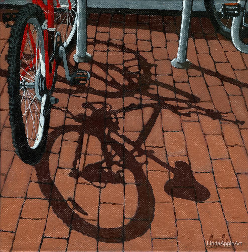 Bikes & Bricks-  oil painting by LindaAppleArt