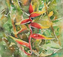 Heliconia  by Rosie Brown
