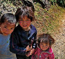rural kids. nepal himalayas by tim buckley | bodhiimages